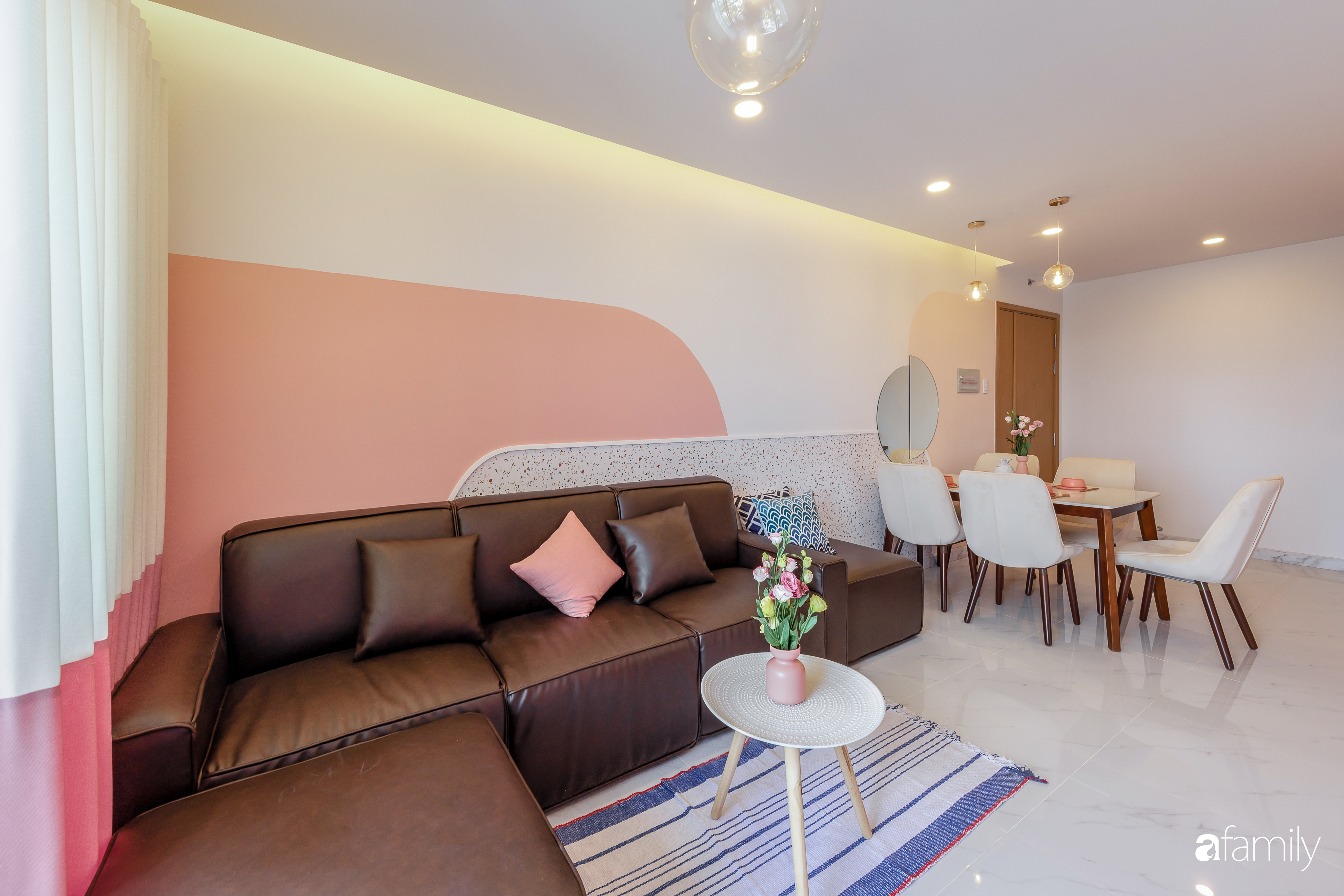 Căn hộ 100m² ngọt ngào khi chọn sắc hồng làm màu chủ đạo có chi phí hoàn thiện 450 triệu đồng ở TP HCM - Ảnh 2.