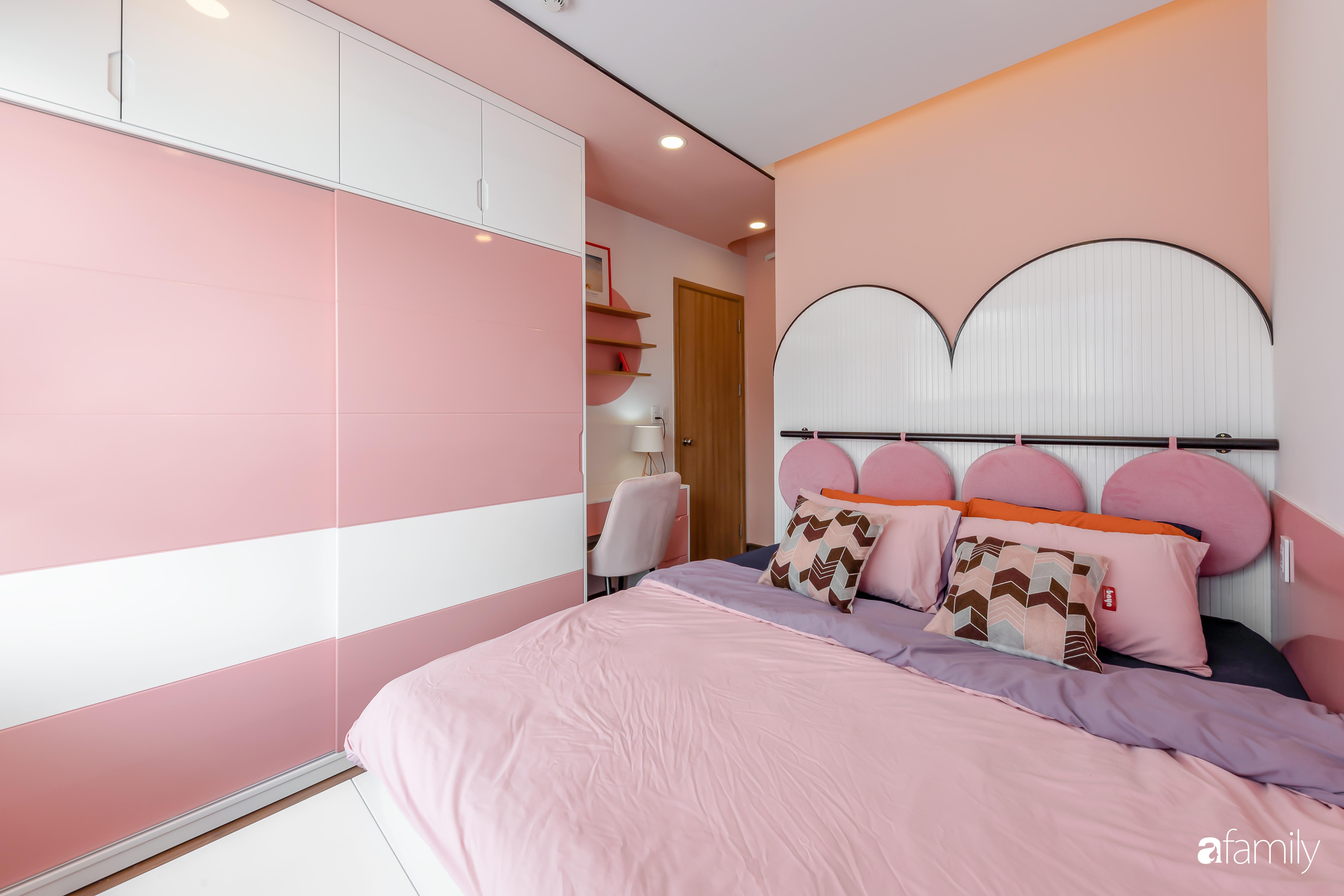 Căn hộ 100m² ngọt ngào khi chọn sắc hồng làm màu chủ đạo có chi phí hoàn thiện 450 triệu đồng ở TP HCM - Ảnh 14.