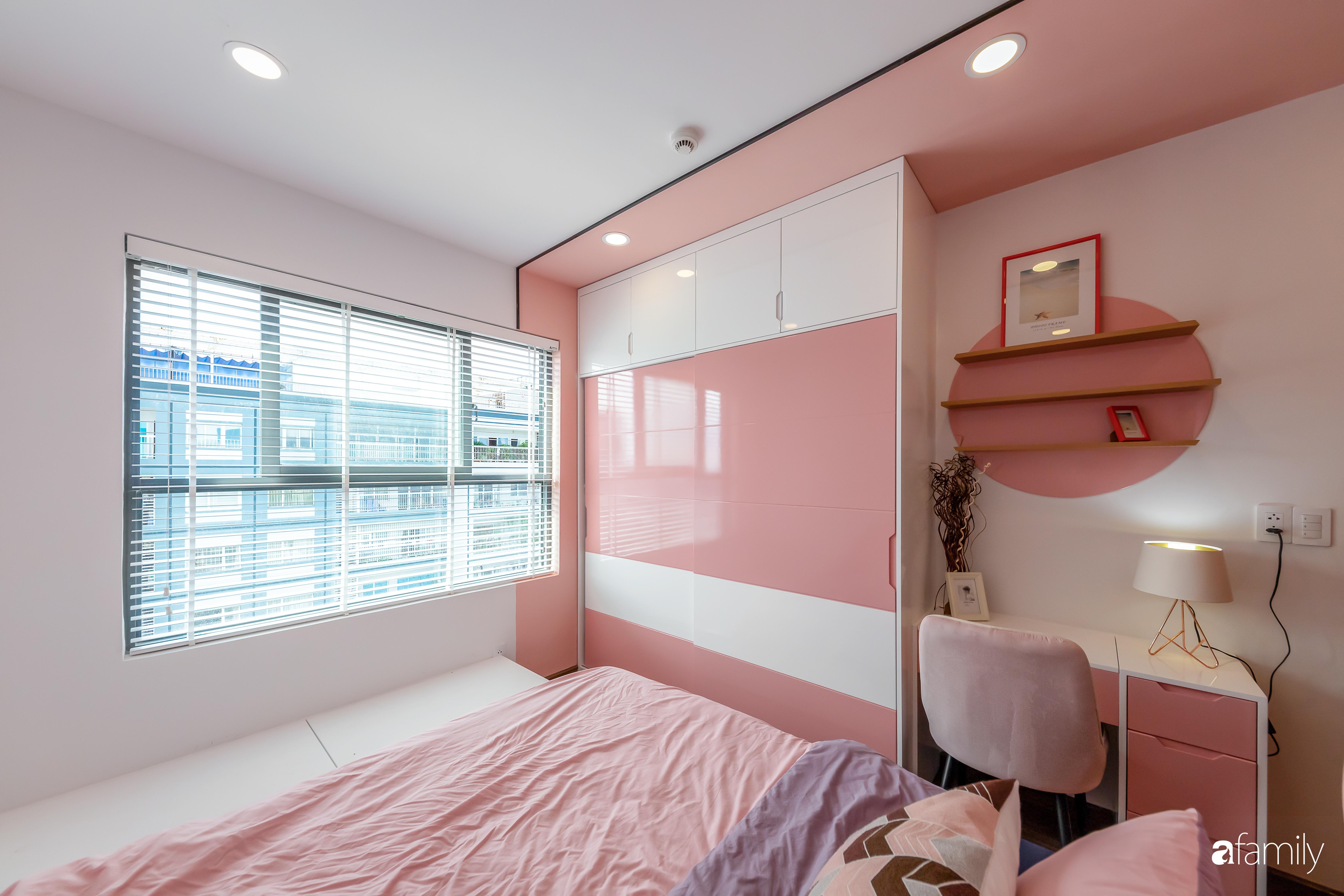 Căn hộ 100m² ngọt ngào khi chọn sắc hồng làm màu chủ đạo có chi phí hoàn thiện 450 triệu đồng ở TP HCM - Ảnh 13.