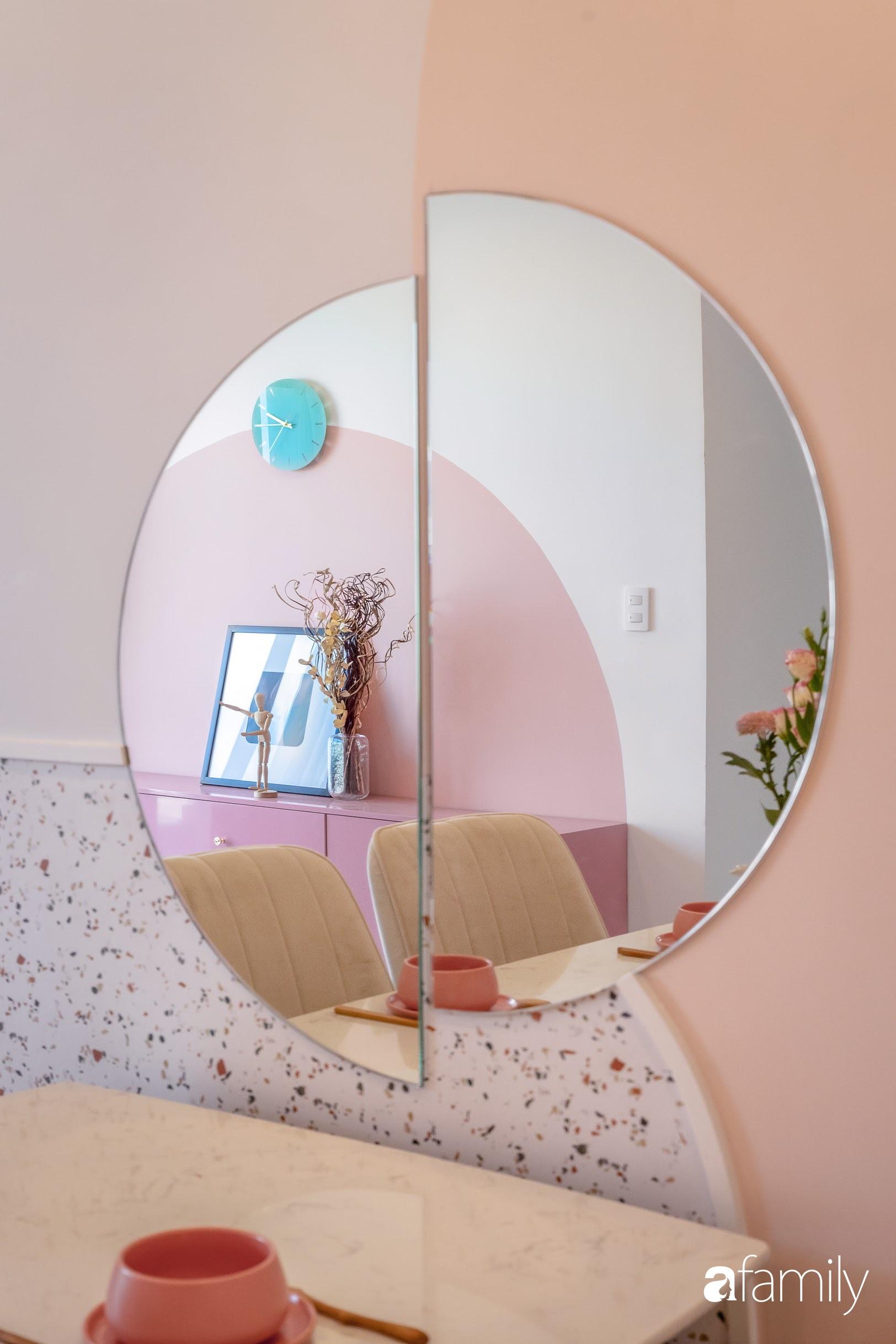 Căn hộ 100m² ngọt ngào khi chọn sắc hồng làm màu chủ đạo có chi phí hoàn thiện 450 triệu đồng ở TP HCM - Ảnh 9.