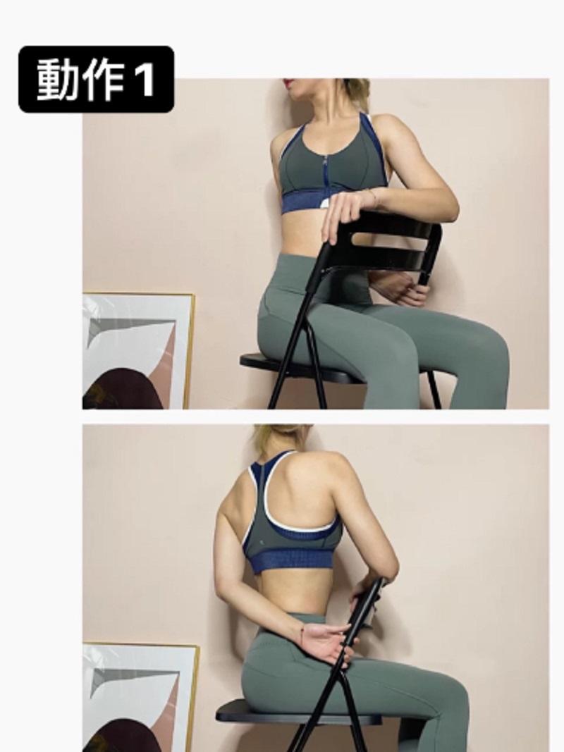 HLV hướng dẫn động tác tận dụng chiếc ghế để tập luyện, giúp các chị em lưng thẳng dáng thon đi trông thấy - Ảnh 2.