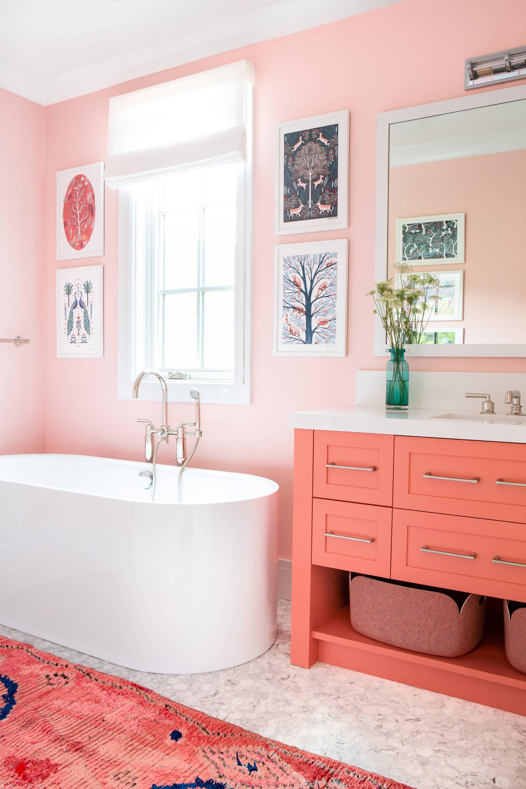 Những bí mật trang trí tường phòng tắm tạo nên không gian vui nhộn, đặc sắc - Ảnh 4.