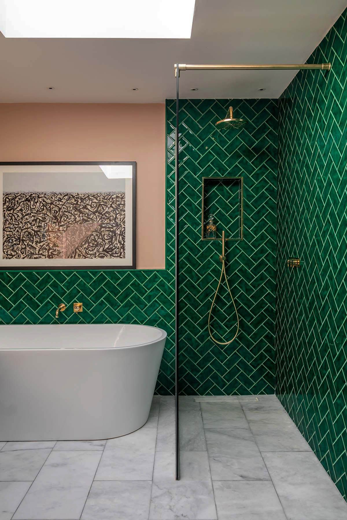 Những bí mật trang trí tường phòng tắm tạo nên không gian vui nhộn, đặc sắc - Ảnh 6.