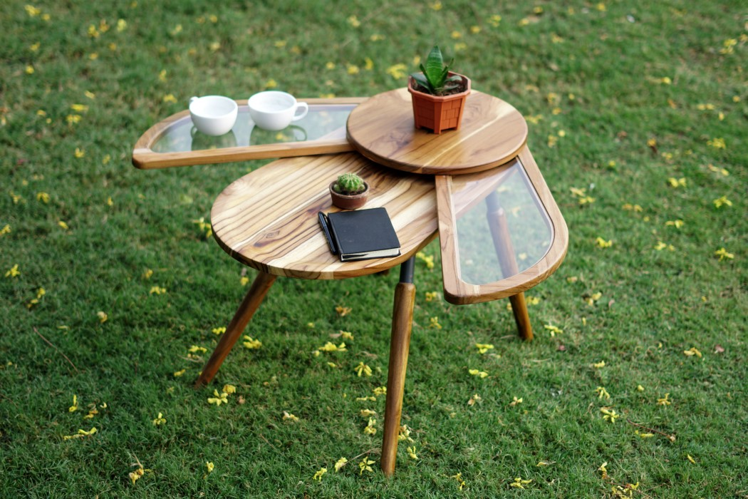 Thiết kế độc đáo như chú bọ cánh cứng, chiếc bàn trà ăn gian diện tích được lòng hội chị em sở hữu nhà nhỏ hẹp - Ảnh 2.