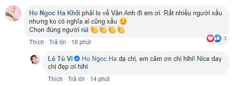 Tú Vi vừa trải lòng về tin đồn ly hôn Văn Anh, Hồ Ngọc Hà liền bình luận gây chú ý - Ảnh 3.
