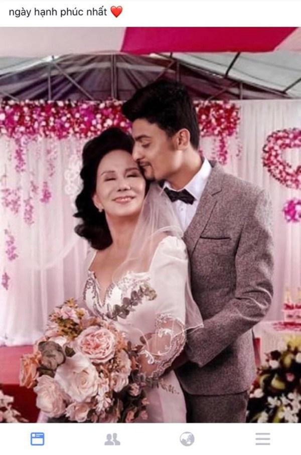 Ảnh cưới của cặp đôi cũng bị mang đi cắt ghép rồi dựng tin lung tung