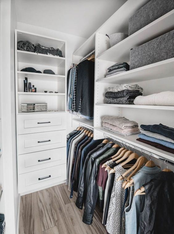 Những kiểu dáng tủ quần áo vừa thời trang vừa giúp đựng được vô số đồ đạc dành cho nhà nhỏ - Ảnh 9.