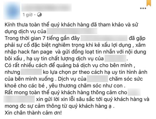 Tư vấn khách sử dụng dịch vụ không được, một trung tâm chăm sóc trẻ nhỏ ở Hà Nội nguyền rủa em bé bị dị tật, thiểu não - Ảnh 2.