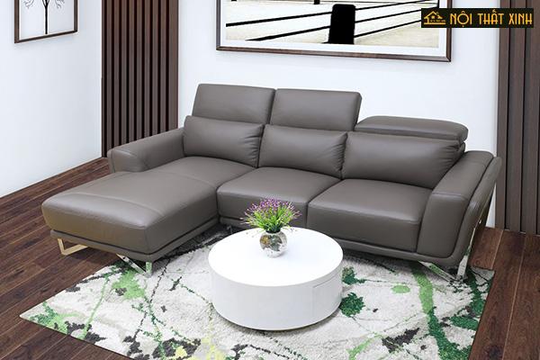 10 mẫu ghế sofa chữ L nhập khẩu mê hoặc lòng người - Ảnh 4.