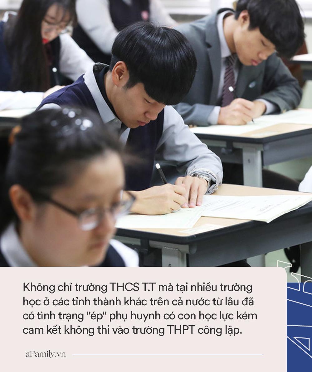 """Trường THCS bị tố """"ép"""" phụ huynh cam kết không cho con thi THPT công lập vì học kém, đe dọa: Học bạ trong tay, cô sẵn sàng sửa điểm - Ảnh 3."""
