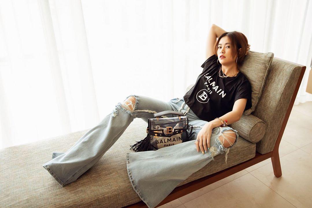 10 cách mix áo phông vừa đẹp vừa mát như sao Việt, toàn kiểu đơn giản mà nàng nào cũng có thể học theo - Ảnh 10.
