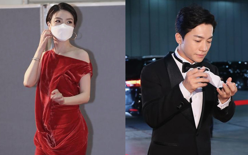 Đi thảm đỏ Baeksang Arts Awards 2020, nghệ sĩ Hàn Quốc diện váy áo lộng lẫy vẫn quyết đeo khẩu trang