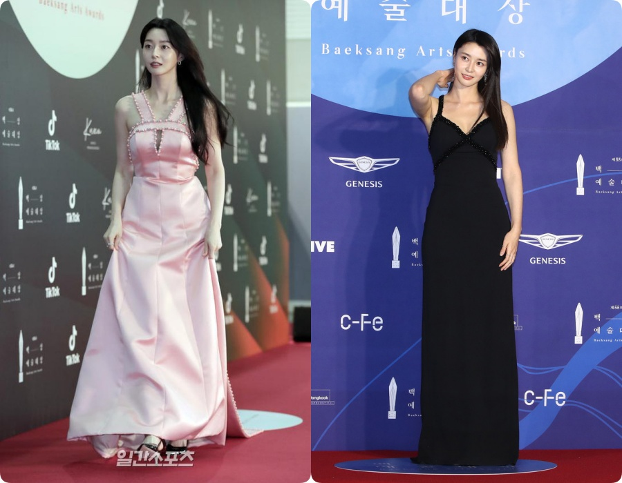 """Nữ chính Itaewon Class khiến dân tình hơi """"tụt mood"""" khi diện đầm bánh bèo toàn tập tại thảm đỏ Beasang 2020 - Ảnh 8."""