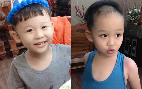 """Vui tay tự cầm kéo cắt tóc, bé 5 tuổi khiến mẹ """"giận run người"""", nhưng buồn cười nhất vẫn là câu nói đầy hối hận sau cùng"""