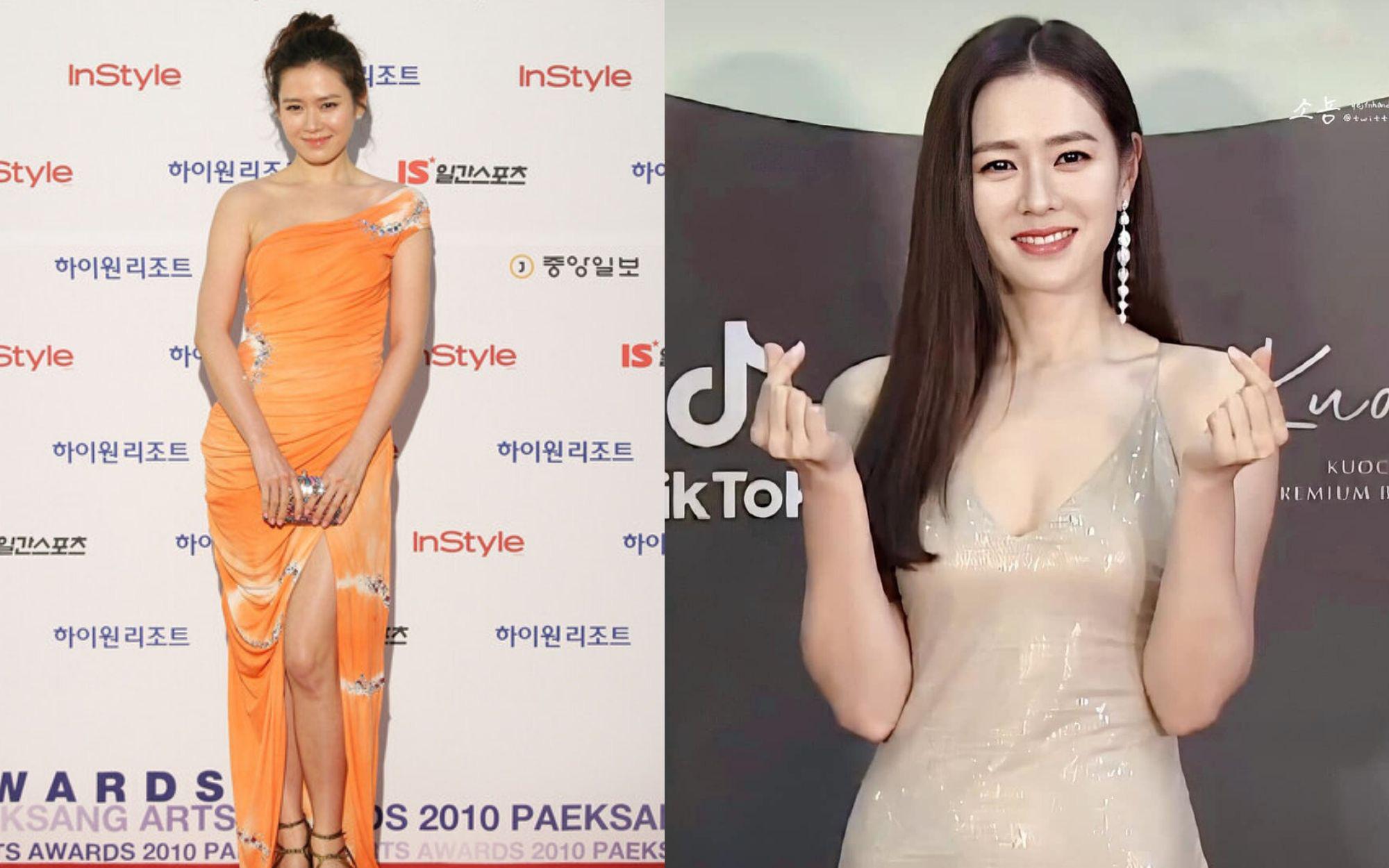 """Style của Son Ye Jin trên thảm đỏ Baeksang qua các năm: Ngày càng """"nhạt màu"""" nhưng độ sang trọng thì tăng theo cấp số nhân"""