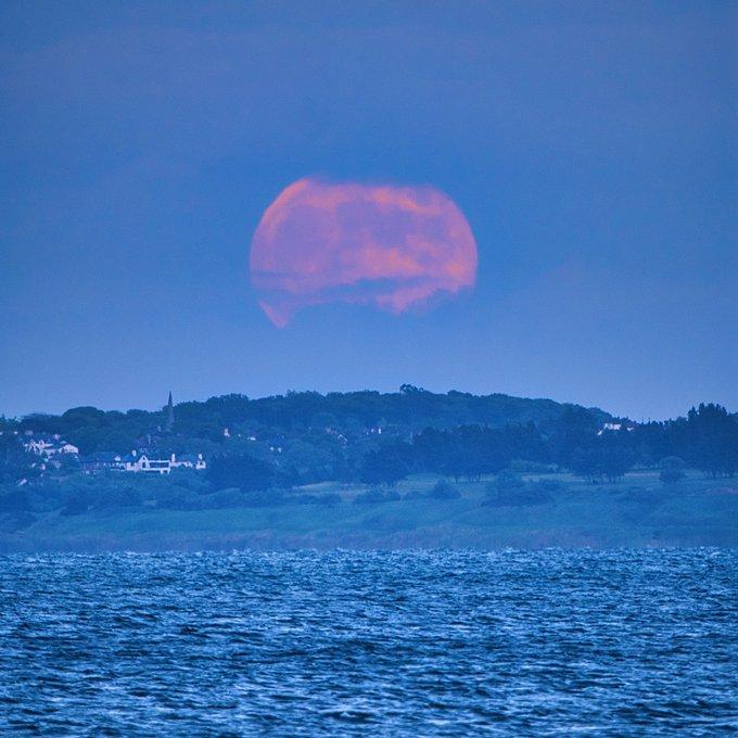 Ngất ngây với một loạt khoảnh khắc về hiện tượng mặt trăng dâu tây hiếm có diễn ra vào đêm qua, rạng sáng nay - Ảnh 16.