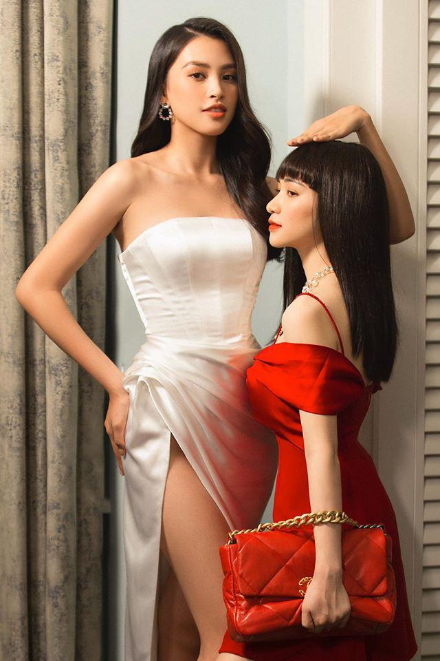 """Hòa Minzy lại một lần nữa """"quê xệ"""" khi tạo dáng bất chấp bên Á hậu Hoàng Thùy - Ảnh 3."""