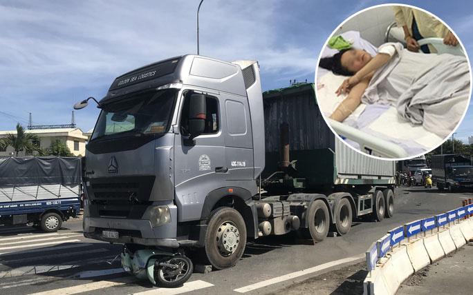 Vụ container cán xe máy khiến bé trai 6 tuổi tử vong, mẹ nguy kịch ở Đà Nẵng: Người mẹ đang mang thai, phải cưa bỏ một chân