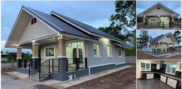 Nhà cấp 4 ở nông thôn được thiết kế theo phong cách hiện đại với 2 phòng ngủ, 2 phòng tắm - Ảnh 1.