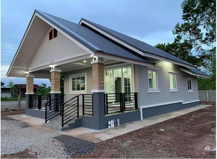 Nhà cấp 4 ở nông thôn được thiết kế theo phong cách hiện đại với 2 phòng ngủ, 2 phòng tắm - Ảnh 2.