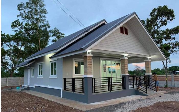 Giới thiệu mẫu nhà cấp 4 điển hình ở nông thôn được thiết kế theo phong cách hiện đại với 2 phòng ngủ, 2 phòng tắm