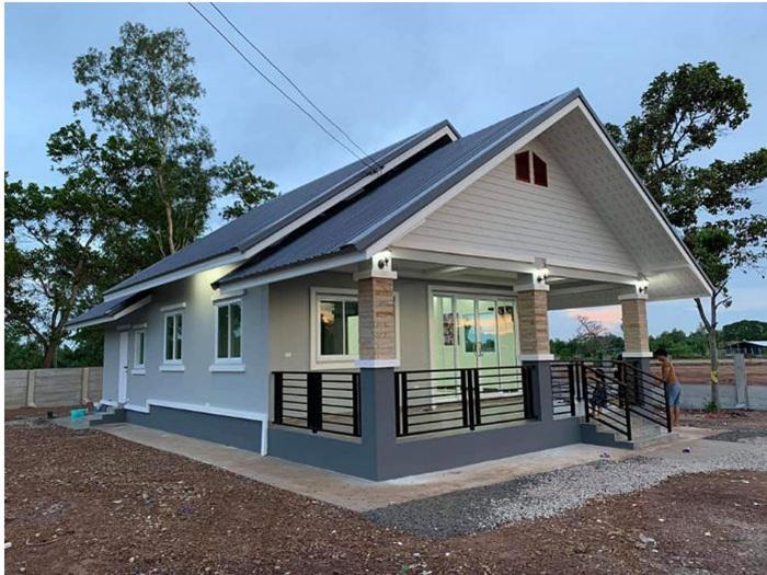 Nhà cấp 4 ở nông thôn được thiết kế theo phong cách hiện đại với 2 phòng ngủ, 2 phòng tắm - Ảnh 4.