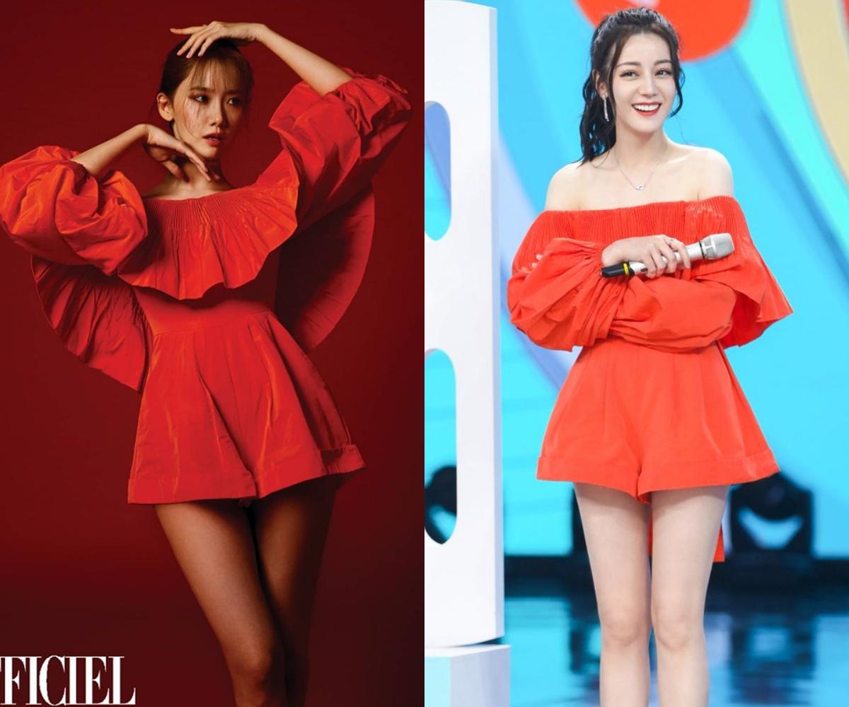 Nhờ tạo dáng hay ho mà Yoona khoe được nét sexy mặn mà tuổi 30, đối lập hẳn với vẻ ngọt ngào của Địch Lệ Nhiệt Ba - Ảnh 1.