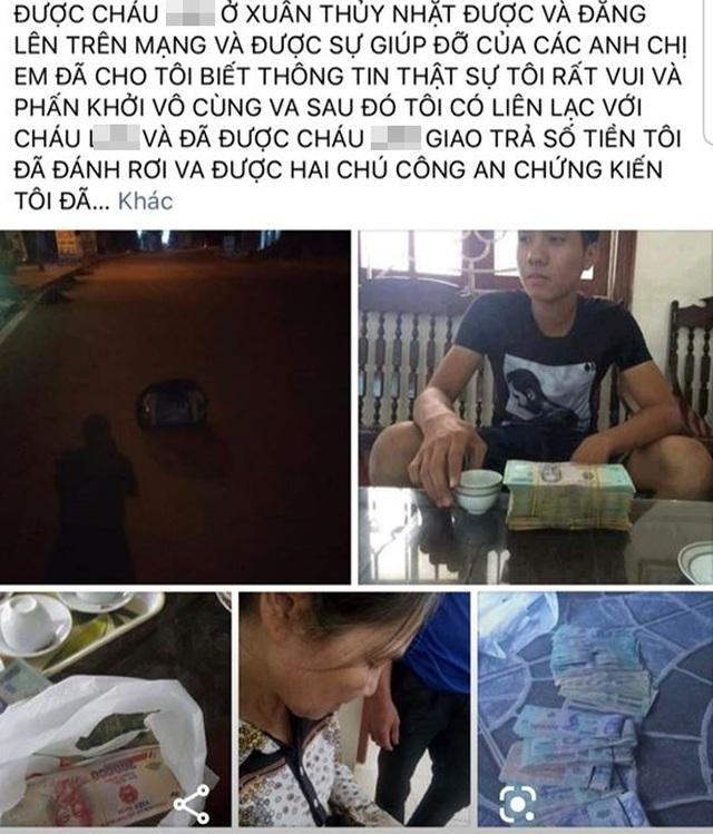 Phú Thọ: Cô gái dựng chuyện trả lại 136 triệu đồng để câu like - Ảnh 1.