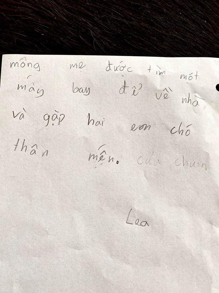Con gái Hồng Nhung viết thư gửi mẹ: Sai chính tả tùm lum nhưng nội dung dài vỏn vẹn vài dòng mới là điều gây bất ngờ - Ảnh 3.