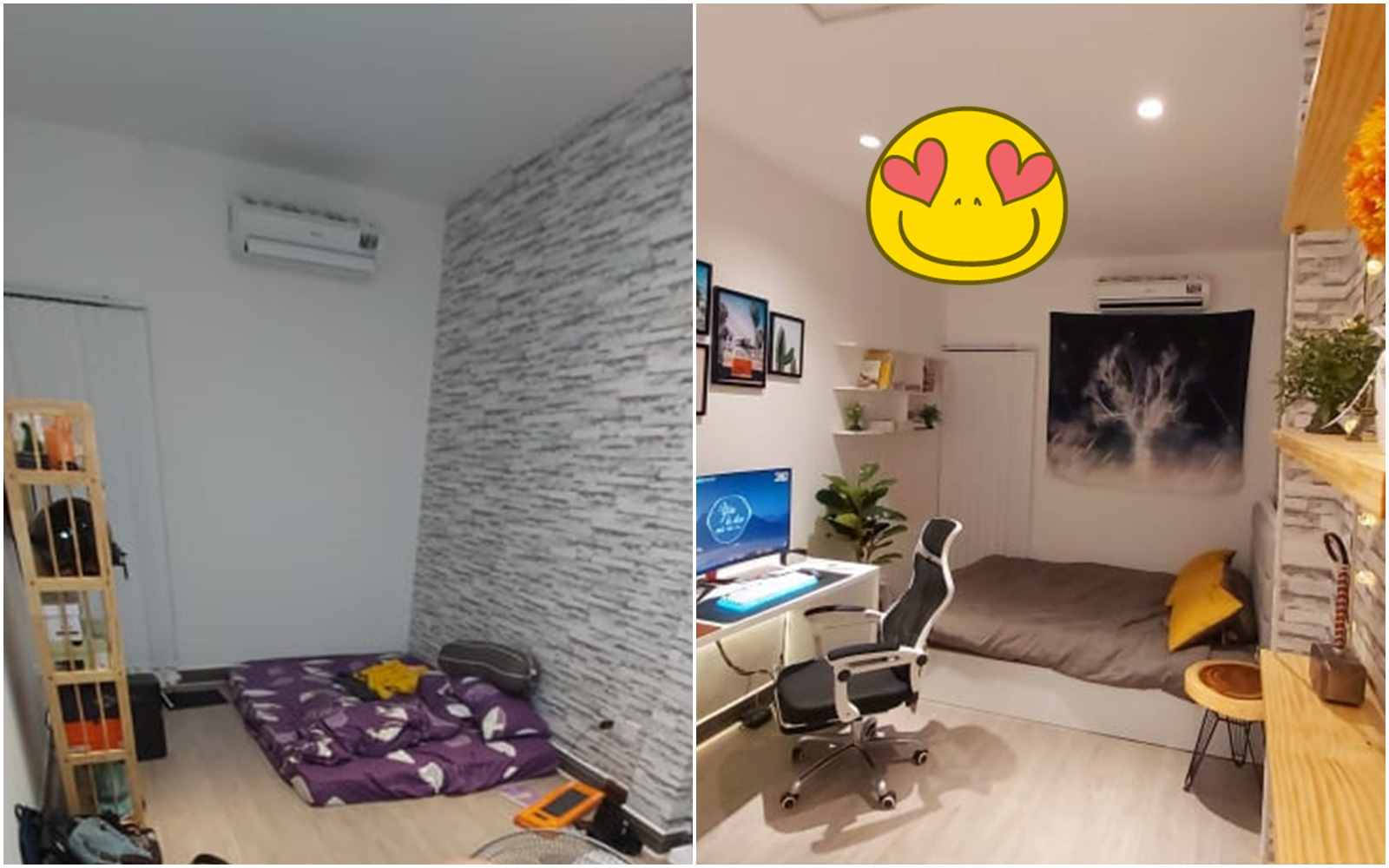 Tự tay trang trí phòng ngủ 12m² với chi phí gần 30 triệu, chàng trai Sài Gòn khiến ai nấy trầm trồ