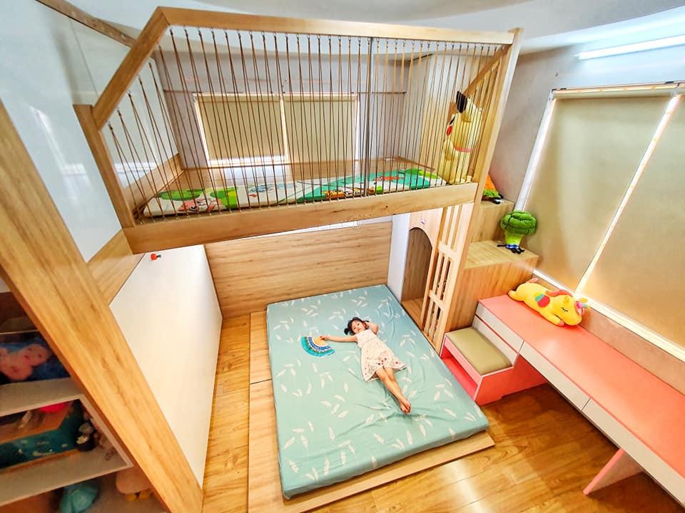 Đón con thứ 2 chào đời, ông bố trẻ quyết định đầu tư làm tặng cho cô con gái lớn 1 phòng gác lửng đẹp như mơ, song chi phí được tiết lộ mới thật sự gây ấn tượng - Ảnh 12.