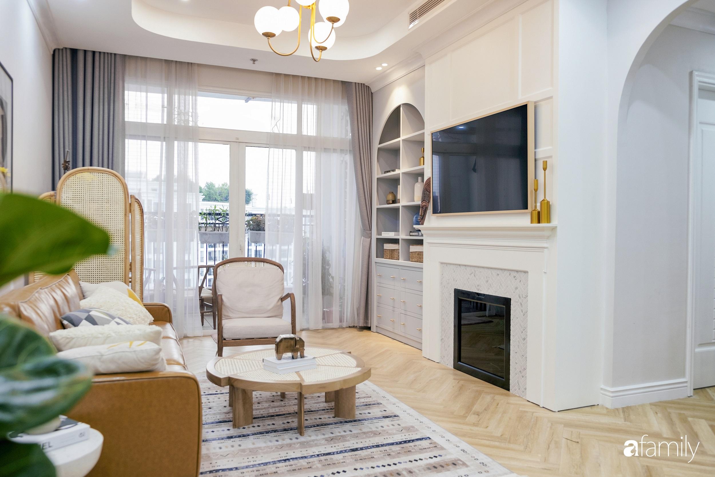Căn hộ 120m² đẹp bình yên theo phong cách Farmhouse  có chi phí hoàn thiện 465 triệu đồng ở Hà Nội - Ảnh 6.