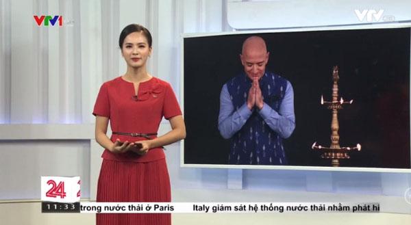 """Vừa mới lên sóng, nữ MC mới của """"Chuyển động 24h"""" đã gây sốt vì quá duyên dáng, lại còn từng là thí sinh Hoa hậu  - Ảnh 1."""