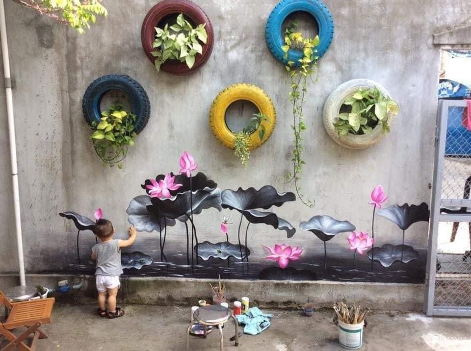 Bỏ 2 triệu, mẹ đảm ở Đà Nẵng trang trí lại không gian sống đẹp như mơ chỉ từ những món đồ tái chế mà ai cũng bỏ đi - Ảnh 7.