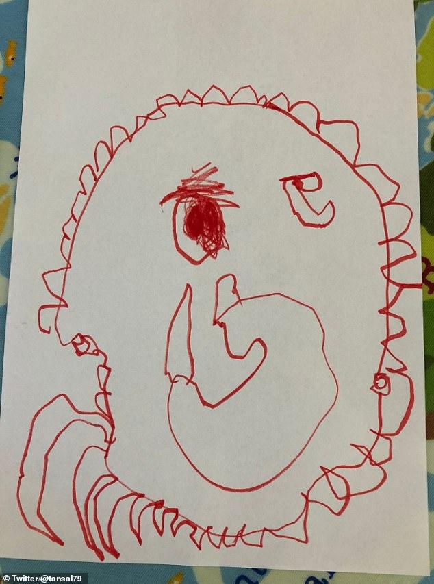 """Đứng yêu 30 phút cho con vẽ chân dung, mẹ nhận tranh mà thấy như """"người dưng ngược lối"""" - Ảnh 3."""