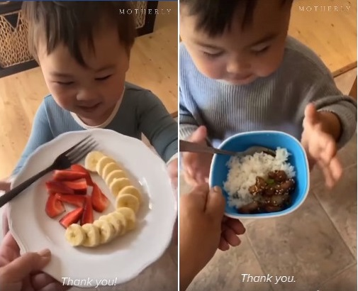 Bé trai 2 tuổi bỗng nổi như cồn khi luôn nói một câu mỗi lúc được mẹ giúp đỡ hoặc cho đồ ăn - Ảnh 1.