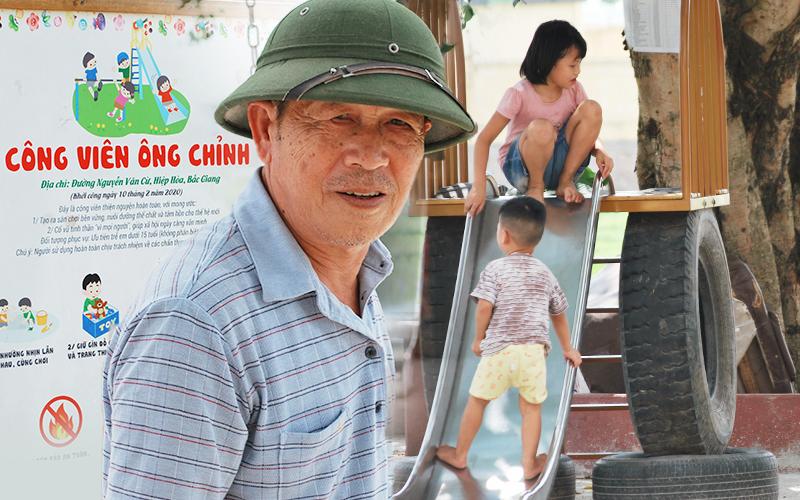 Về Bắc Giang thăm cụ ông bỏ tiền túi xây công viên miễn phí cho trẻ em, nghe chuyện hạnh phúc tuổi xế chiều với 3 người con thành đạt 'biết nghĩ tới quê hương'