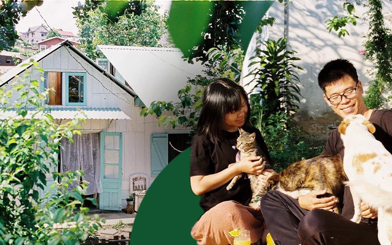 Yêu Đà Lạt, cặp vợ chồng 9X quyết rời Sài Gòn về xây nhà vườn bình yên, sống cuộc sống mơ ước