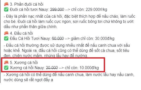 """Vụn cá hồi giá rẻ hút khách nhưng vẫn phải """"chào thua"""" trước bộ phận này khi giá bán chỉ 10.000 đồng/kg khiến các bà nội trợ tranh nhau """"đặt mua"""" - Ảnh 4."""