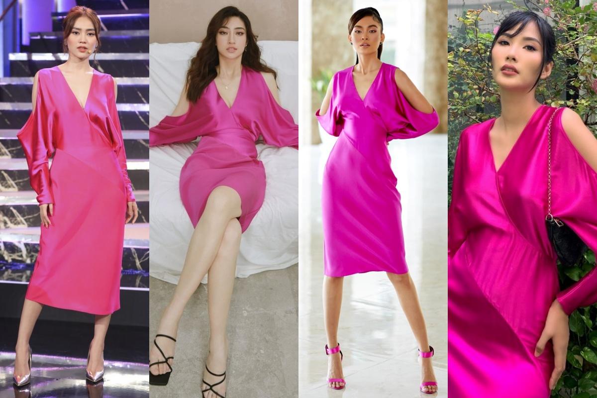 Cùng 1 bộ váy: Lạn Ngọc rất xinh nhưng có phần kém sexy so với Lương Thùy Linh, Hoàng Thùy vì khoản tạo dáng thông minh - Ảnh 6.