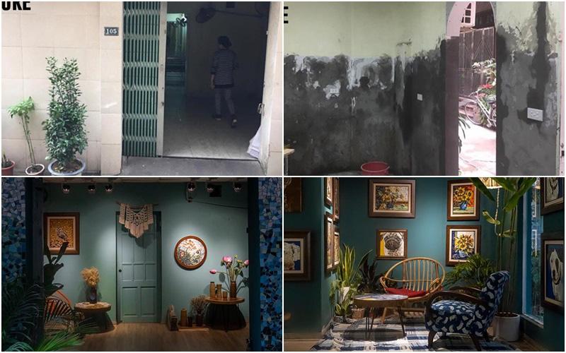 """Nhà tập thể cũ """"lột xác"""" thành không gian nghệ thuật đẹp ấn tượng với chi phí 16 triệu đồng"""