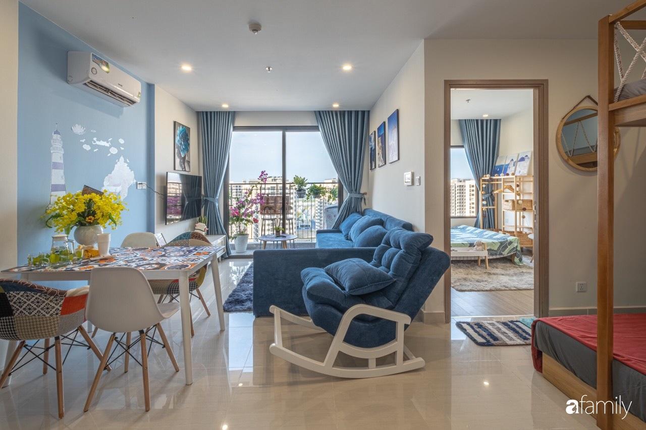 Căn hộ 46m² đẹp tươi tắn với sắc xanh mùa hè có chi phí hoàn thiện 70 triệu đồng của chàng sinh viên Hà Nội - Ảnh 5.