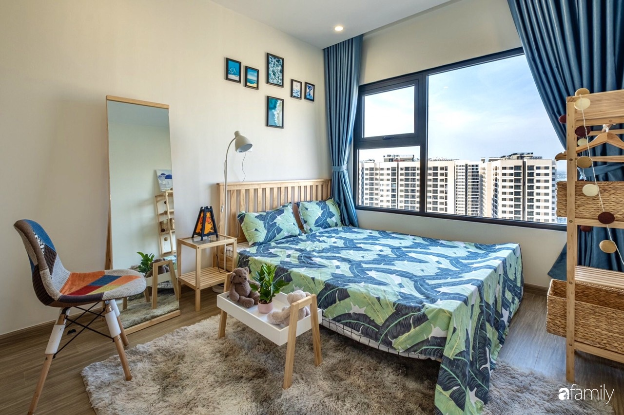 Căn hộ 46m² đẹp tươi tắn với sắc xanh mùa hè có chi phí hoàn thiện 70 triệu đồng của chàng sinh viên Hà Nội - Ảnh 11.