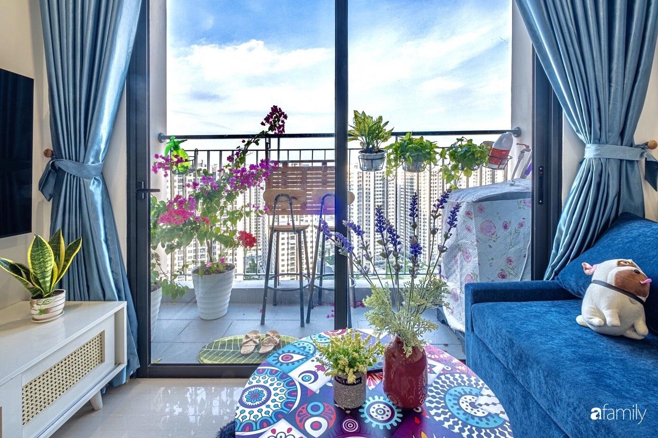 Căn hộ 46m² đẹp tươi tắn với sắc xanh mùa hè có chi phí hoàn thiện 70 triệu đồng của chàng sinh viên Hà Nội - Ảnh 1.