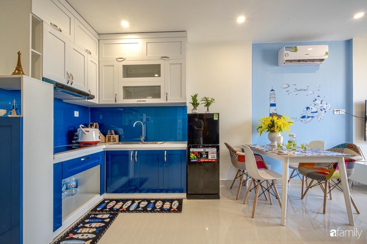 Căn hộ 46m² đẹp tươi tắn với sắc xanh mùa hè có chi phí hoàn thiện 70 triệu đồng của chàng sinh viên Hà Nội - Ảnh 6.