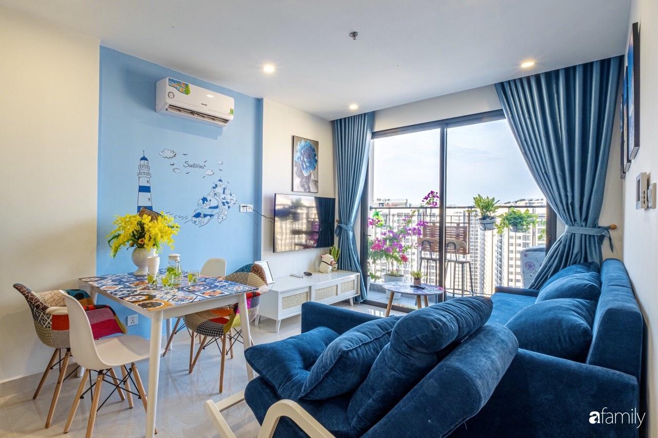 Căn hộ 46m² đẹp tươi tắn với sắc xanh mùa hè có chi phí hoàn thiện 70 triệu đồng của chàng sinh viên Hà Nội - Ảnh 2.