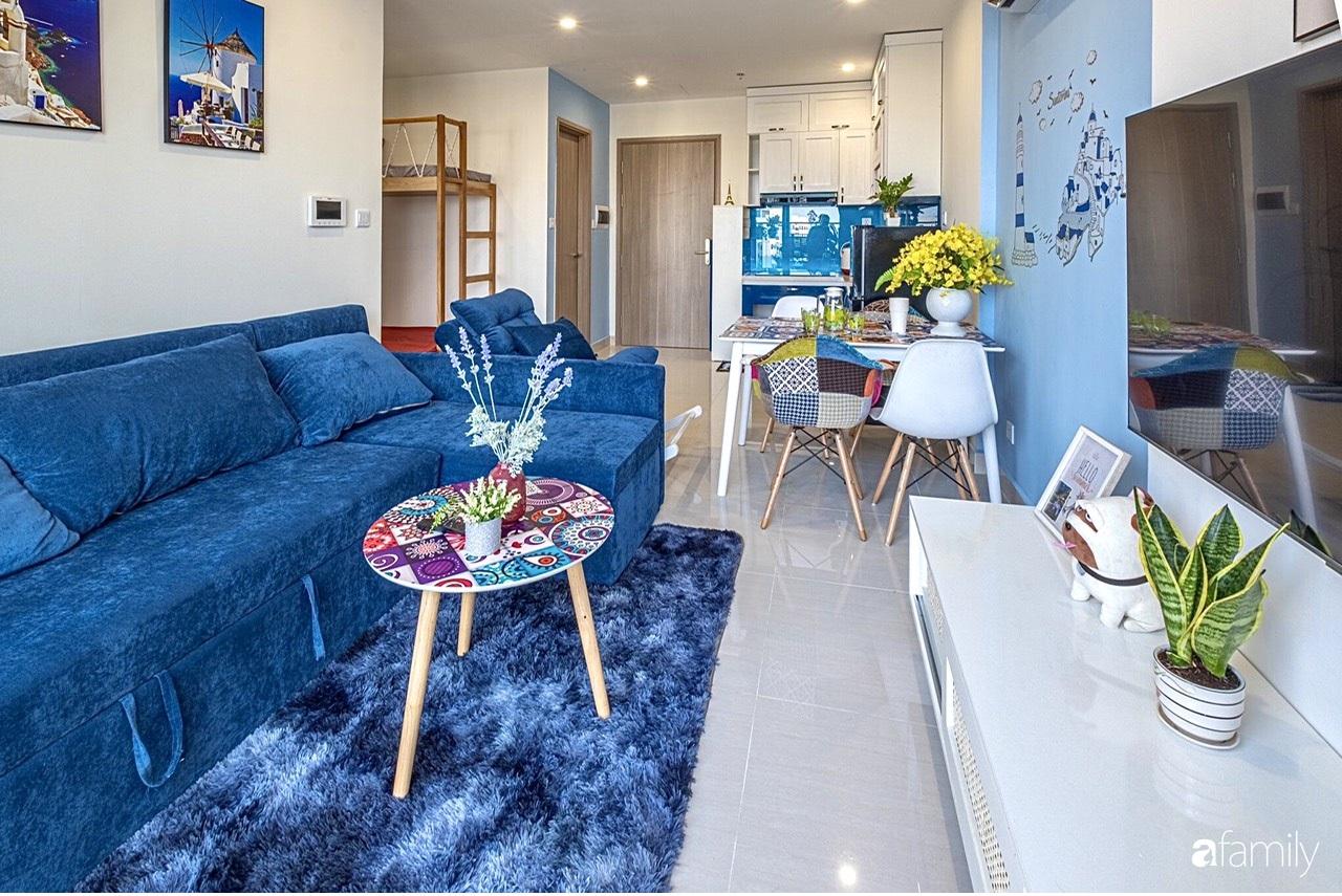 Căn hộ 46m² đẹp tươi tắn với sắc xanh mùa hè có chi phí hoàn thiện 70 triệu đồng của chàng sinh viên Hà Nội - Ảnh 4.