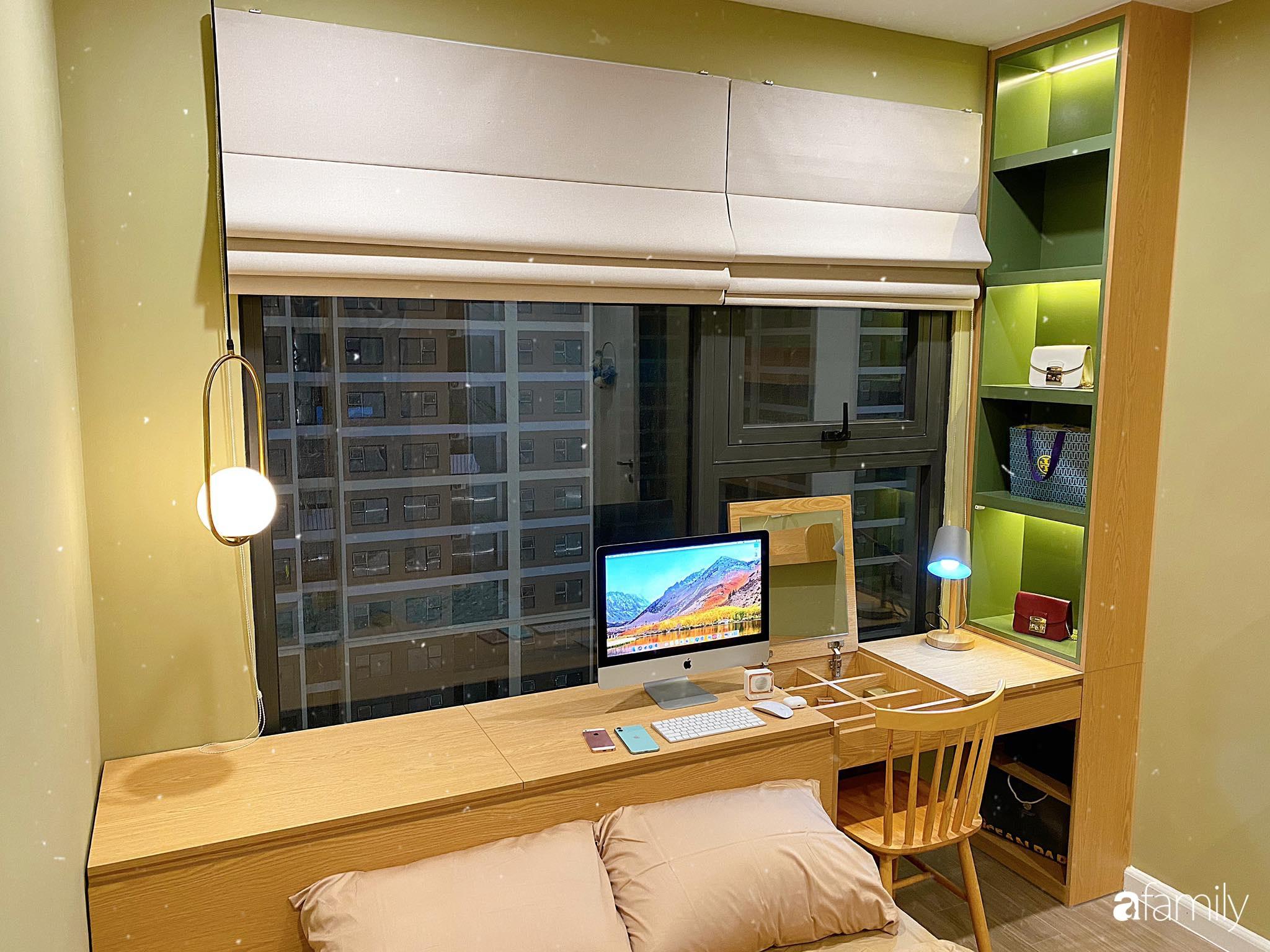 Căn hộ 59m² màu xanh lá xua tan nóng bức mùa hè có chi phí hoàn thiện 225 triệu đồng ở Hà Nội - Ảnh 17.