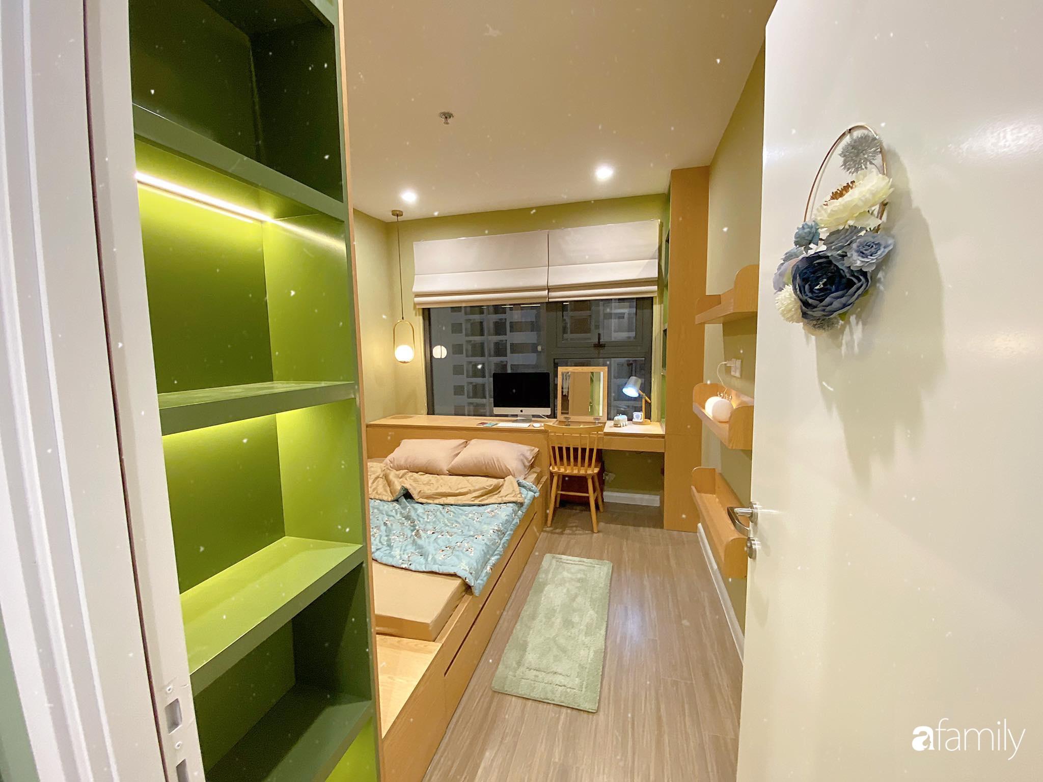 Căn hộ 59m² màu xanh lá xua tan nóng bức mùa hè có chi phí hoàn thiện 225 triệu đồng ở Hà Nội - Ảnh 16.
