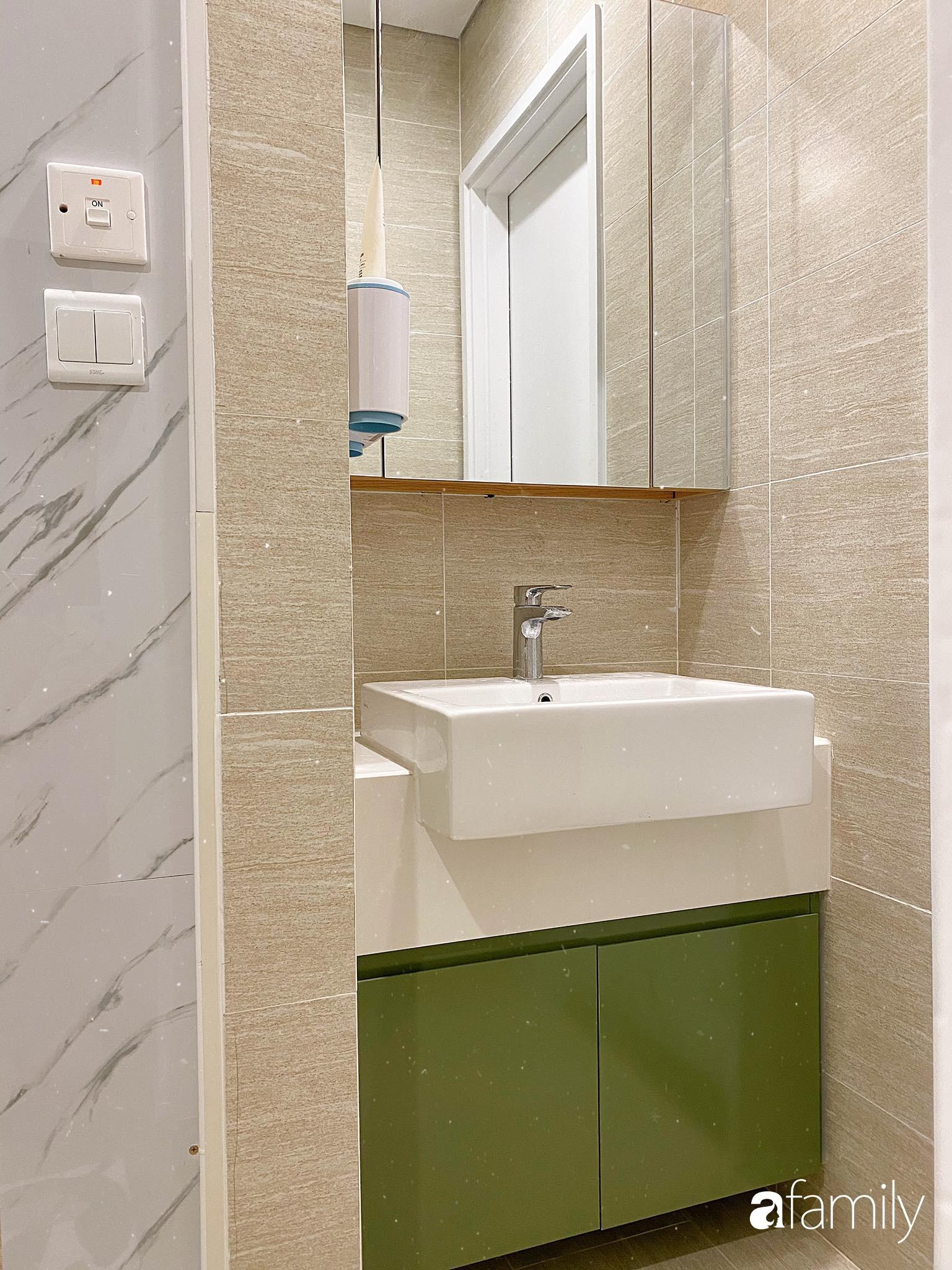 Căn hộ 59m² màu xanh lá xua tan nóng bức mùa hè có chi phí hoàn thiện 225 triệu đồng ở Hà Nội - Ảnh 21.